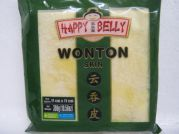 Wonton Skin, Wantan Bl�tter, 11x11cm, 300g, Happy Belly